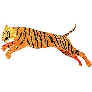 My Wonderful Walls Tiger Decal Sticker Set for Jungle Theme Wall Mural, Left-Facing, Orange/Black