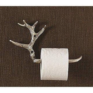 Antler Style Toilet Tissue Holder Rack - Lodge Decor