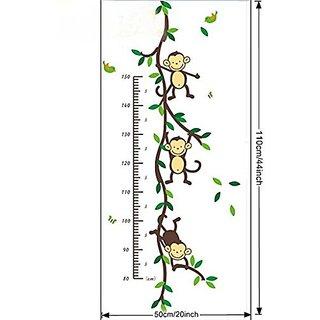 Wangyue Cartoon Monkey Height Rule Wall Decor Wall Stickers