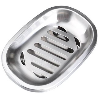 Oval stainless steel soap dish soap box Drain LZS0222