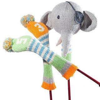 ChunkiChilli Golf Club Cover Set - Pirate Elephant