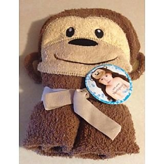 Northpoint Kids Hooded Beach Towel Monkey 100% Cotton
