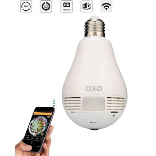 D3D Wireless Panoramic Bulb 360 IP Camera