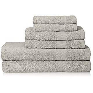 THE DELUXE/ESPALMA Towel Set, Pearl Gray, 6 Piece