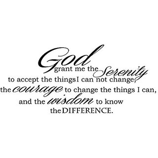 God Grant Serenity Prayer Vinyl Wall Decal Quotes Wall Stickers Religious Decals Home Decor Decals