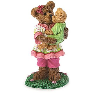 Boyds Bearstone Momma Sweetlove with Bebe Figurine