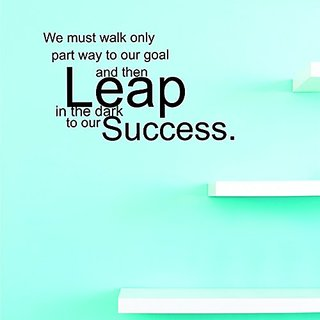Design with Vinyl JER 347 1 We Must Walk Only Part Way To Our Goal & Then Leap In The Dark To Our Success Inspirational