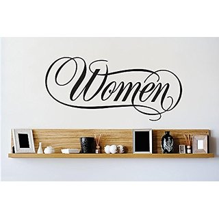 Design with Vinyl 2 Zzz 649 Decor Item Woman Sign Image Quote Wall Decal Sticker, 12 x 30-Inch, Black