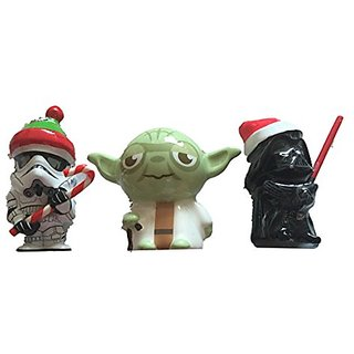 Star Wars Dark Vader Yoda and Stomtrooper Christmas Tree Ornaments