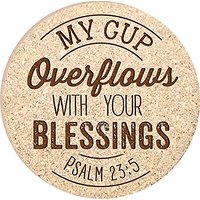 P. Graham Dunn 113208 Coasters - My Cup Overflows With Your Blessings - Cork - Set Of 4