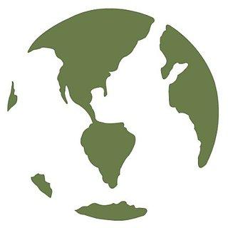 My Wonderful Walls Earth Stencil