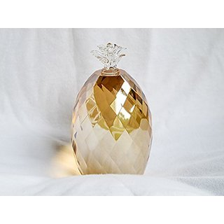 Oleg Cassini Amber Shimmer Crystal Pineapple