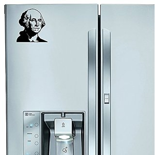 StickAny Kitchen Appliance Series George Washington Sticker for Refrigerators, Dishwashers, and More! (Black)