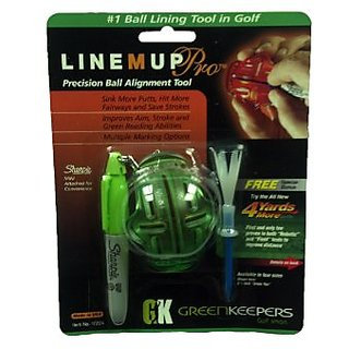Greenkeepers Line M Up Pro Precision Ball Alignment Tool (Lime Green)