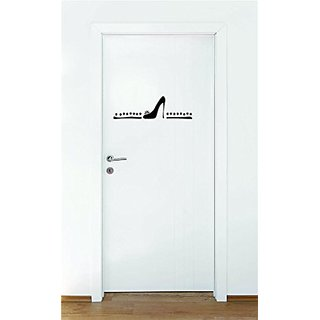 Design with Vinyl Moti 1490 3 Shoe Symbol Peel & Stick Wall Sticker Decal, 16
