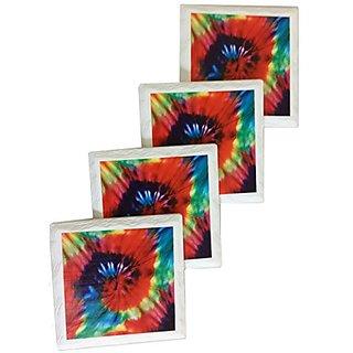 Perfection In Style Ceramic Coasters Tye Dye 01 4