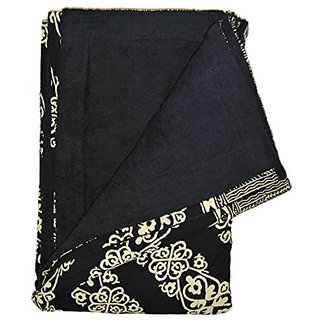 Black and Cream Batik Band Sarong Towel