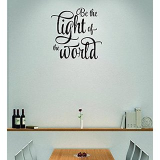 Design with Vinyl Moti 1782 3 Be the Light of the World Inspirational Life Quote Peel & Stick Wall Sticker Decal, 20