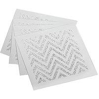 American Atelier Zig Zag Coasters/Pillar Holders (Set Of 4), Silver