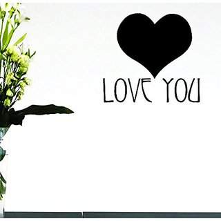 Design with Vinyl Moti 1578 2 Heart Love You Peel & Stick Wall Sticker Decal, 16