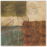 NATURALL ABSORBANT COASTERS SETS OF 4 (Sqaure Leaf)