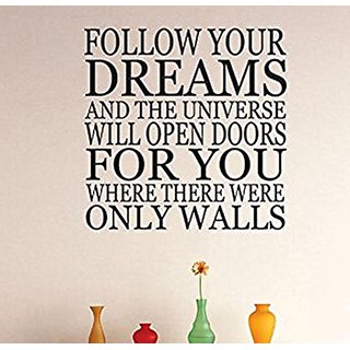 Design with Vinyl 3 Zzz 597 Decor Item Follow Your Dreams Quote Wall Decal Sticker, 20 x 20-Inch, Black