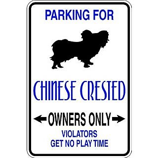 Design With Vinyl Design 633 Parking for Chinese Crested Vinyl 9 X 18 Wall Decal Sticker