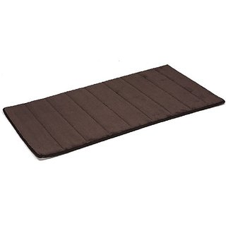 Simple Deluxe Luxury Memory Bath Rug, 19.5 by 36-Inch, Dark Coffee, 2-Pack