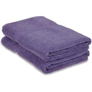 Luxury Spa Collection - 2 Piece Bath Towel Set - 100% Genuine Egyptian Cotton, PURPLE