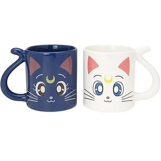 Cute Sailor Moon Luna Cat and Artemis Pair Mug Cup