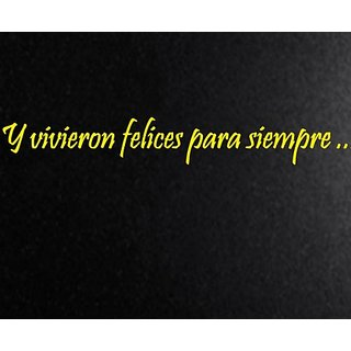 Vinyl Say M.Yellow -66x9-s.0018 Siempre Besame Buenas Noches Matte Spanish Wall Decals, Yellow