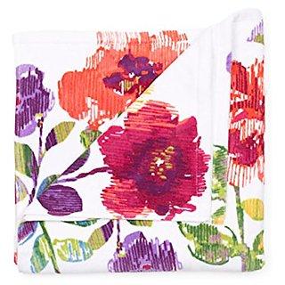 Lenox Floral Print Pattern 100% Cotton Decorative Velour Bath Towel