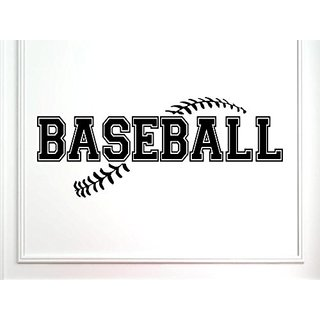 Vinylsay 1266.Baseball-M.Black-33x13.5 Wall Saying Sports-Baseball, 33 x 13.5-Inch, Matte Black