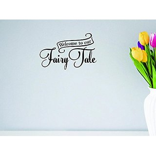 Design with Vinyl Moti 1613 2 Welcome to Our Fairy Tale Castle Prince Princess Love Peel & Stick Wall Sticker Decal, 14