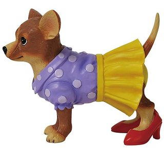 Westland Giftware Aye Chihuahua Figurine, 3-Inch High, Moms Heels Pup