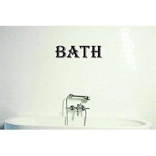 Design with Vinyl Moti 1390 3 Bath Bathroom Sign Peel & Stick Wall Sticker Decal, 16