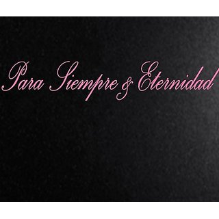 Vinyl Say M.Light Pink-33x6-s.0001 Para Siempre and Eternidad Spanish Wall Decals, Matte Light Pink