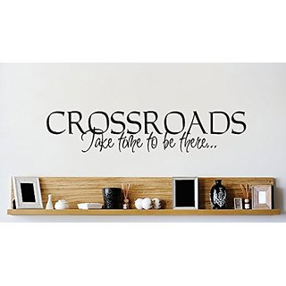 Design with Vinyl 1 Zzz 631 Decor Item Crossroads Take Time to be There Quote Wall Decal Sticker, 8 x 30-Inch, Black