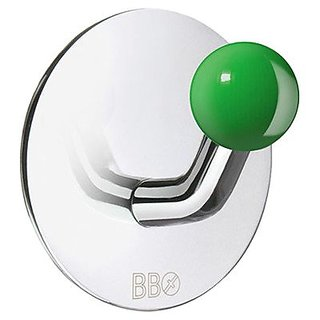 Smedbo Home Decorative Accessories Design Single Hook Stainless Polished/Green Knob
