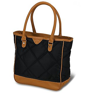 Callaway Womens Up Town Tote Bag, Black/Brown