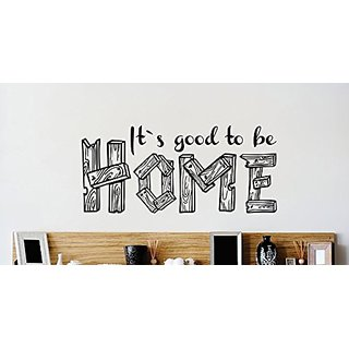 Design with Vinyl 3 Zzz 494 Decor Item its Good to be Home Dining Room Quote Wall Decal Sticker, 20 x 40-Inch, Black