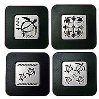 Honus Island Style Coasters Set Of 4