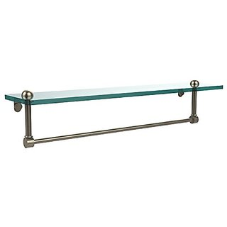 Allied Brass RC-1/22TB-PEW 22-Inch Glass Shelf with Towel Bar