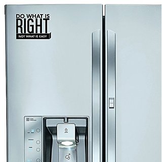 StickAny Kitchen Appliance Series Do What Is Right, Not What Is Easy Sticker for Refrigerators, Dishwashers, and More! (