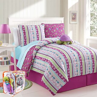 Victoria Classics 3-Piece Reversible Mini Comforter Set, Khloe, Twin