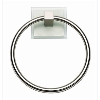 Atlas Homewares ETR-BRN Eucalyptus Collection 6.12-Inch Towel Ring, Brushed Nickel