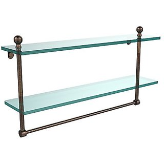 Allied Brass MA-2/22TB-VB 22 by 5-Inch Glass Shelf with Towel Bar