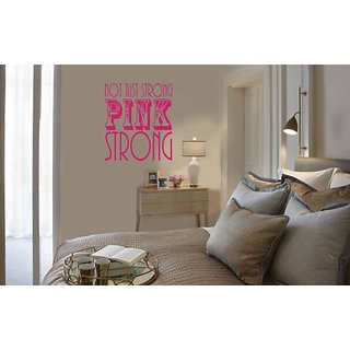 Design with Vinyl Dark Pink - Star 986 Not Just Strong Dark Pink Strong Breast Cancer Ribbon Vinyl Wall Decal, 21-Inch x