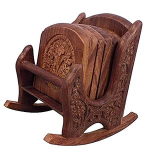 Craftsman Beautiful Miniature Rocking Chair Shaped Tea Coaster