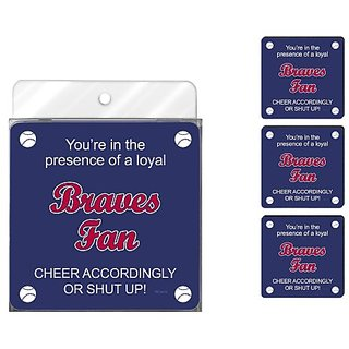 Tree-Free Greetings NC38078 Braves Baseball Fan 4-Pack Artful Coaster Set